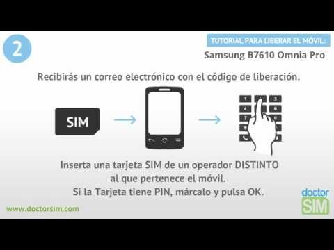 Liberar Samsung b7610 omnia pro, Desbloquear Samsung b7610 omnia pro