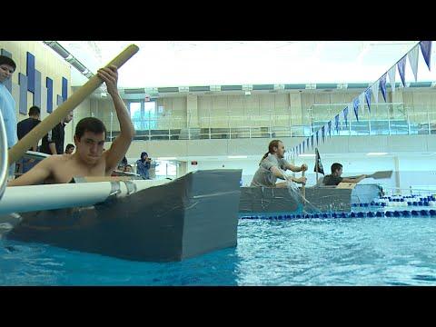 College of DuPage: Engineering Club Cardboard Boat Relay Race