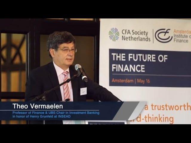 The Future of Finance Symposium: Theo Vermaelen (speaker)