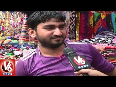 Special Report On Street Shopping At Hyderabad's Sultan Bazar | Ground Report | V6 News
