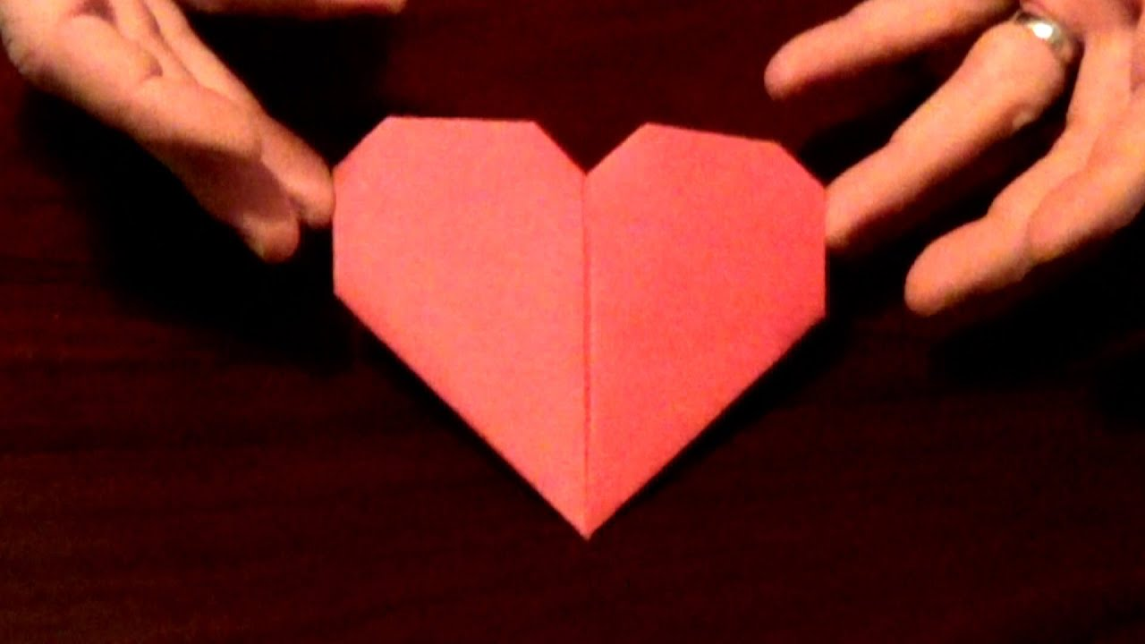 origami heart how to make an origami heart youtube