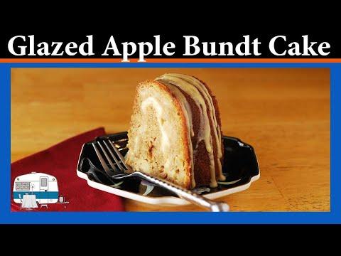 Apple Bundt Cake with Orange Chream Cheese Swirt - Mobile Home Gourmet