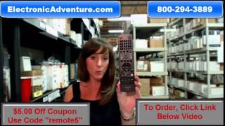Original Sharp 9LE098003063211 Coupon $5 Off LED HDTV Remote Control (GJ221-R)(GJ221R)