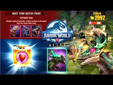 7 STEPS Meet the Match EPIC Strike event with THORADOLOSAUR【Jurassic World Alive 侏羅紀世界Alive】