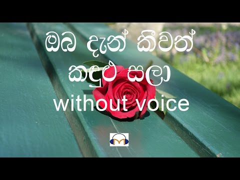 Oba Dan Keewath Karaoke (without voice) ඔබ දැන් කීවත් කඳුළු සලා