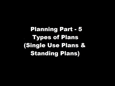 types of standing plans Standing plans: standing plans are ongoing plans that aimed at providing guidance for performing recurring activities the important types of standing plans are as follows.