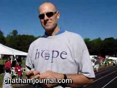 Eric Montross signs autographs at Pittsboro Relay for Life