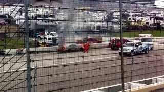 dale earnhardt jr fiery crash at texas motor speedway duck commander 500 april 2014