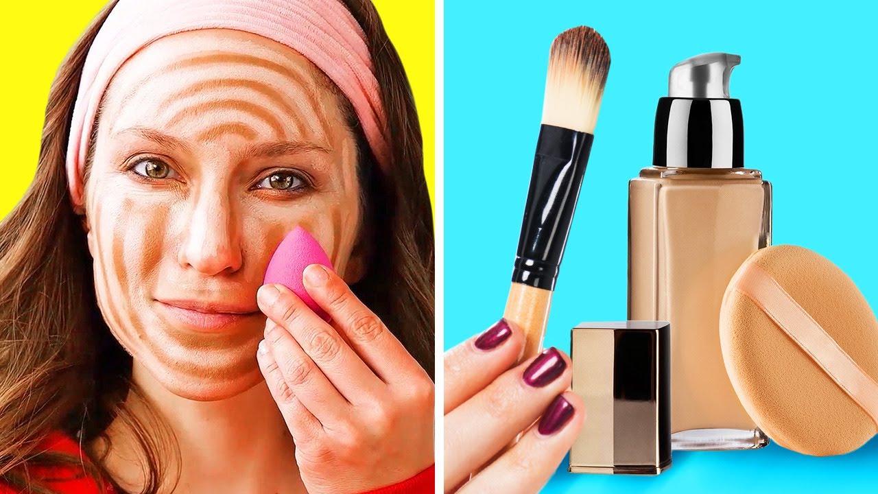 GENIUS MAKEUP HACKS TO LOOK FLAWLESS || 5-Minute Beauty Tips For Girls!