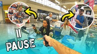 DESAFIO DO PAUSE NO SUPERMERCADO!!! *sem limites*