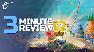 SpongeBob SquarePants: Battle for Bikini Bottom - Rehydrated | Review in 3 Minutes (Video Game Video Review)