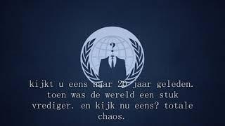 Bericht naar mensen die tegen Anonymous zijn.