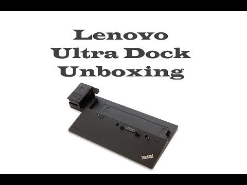Lenovo Thinkpad Ultra Dock 90W Unboxing