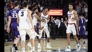 Rui Hachimura 26 PTS 7 REBS Gonzaga Bulldogs vs Washington | HITS GAME WINNER! | 12/6/18 |