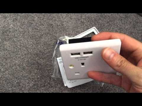 LAP 13A Power Wall Socket (UK) with integral USB ports / chargers