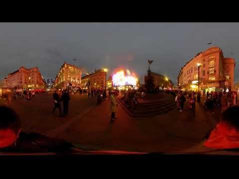 VR 360 United Kingdom London Piccadilly Circus イギリス ロンドン ピカデリーサーカス