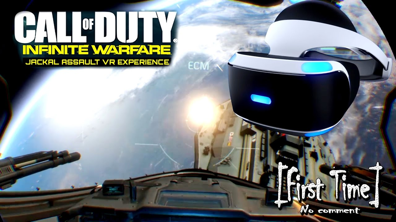 Ps4 Vr Call Of Duty Infinite Warfare Jackal Assault Vr Experience First Time Youtube