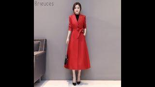 Brieuces осенне зимняя женская одежда больших размеров 4xl модная длинная куртка из искусственной