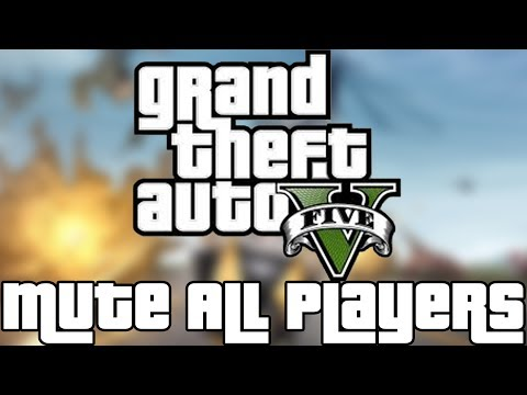 ♦How To - MUTE ALL PLAYERS AT ONCE!!! ◄░Grand Theft Auto Online Gameplay!░