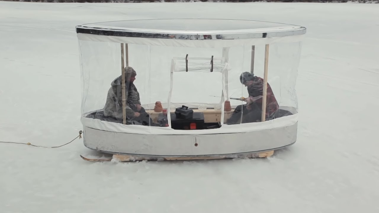 Diy portable ice fishing shack youtube for Cheap house stuff