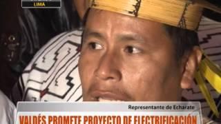Valdés promete proyecto de electrificación