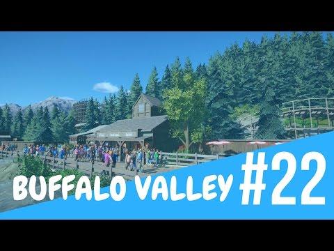 Planet Coaster: Buffalo Valley [Ep. 22] - Train Station/ Shops!