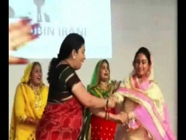 Watch Smriti Irani, Harsimrat Kaur Badal dance to the beats of Giddah