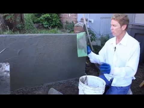 Teaching Cement Plaster Rendering Over Concrete Or Cinder Block Walls