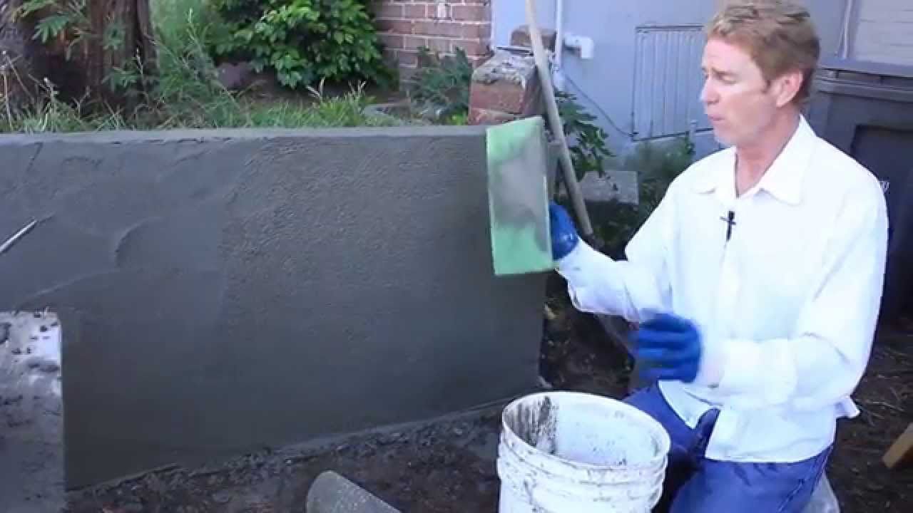 Cement plastering tips techniques over concrete walls - Watch over the garden wall online free ...