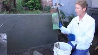 Cement Plaster over concrete or Cinder Block Walls, Parging concrete