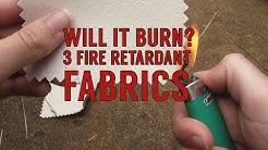 Fabric Burn! Testing Fire Retardant Fabrics: Sunforger Tent Canvas, 18oz Vinyl, & 12oz Duvetyne