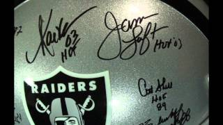 Auction: Full-Size Raiders HOF Helmet Signed by Marcus Allen, Art Shell, Jim Otto (Allen Hologram)