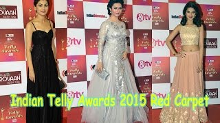 Indian Telly Awards 2015 Red Carpet | Divyanka Tripathi, Jennifer Winget, Sriti Jha