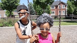 Greedy Granny Goes To The Park with Grumpy Grandpa | FamousTubeKIDS