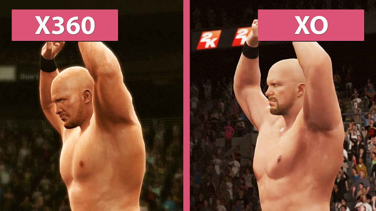 WWE 2K16 Xbox 360 Vs One Graphics Comparison FullHD60fps