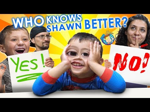 Who Knows Shawn Better  Mom vs. Chase (FV Family Challenge)
