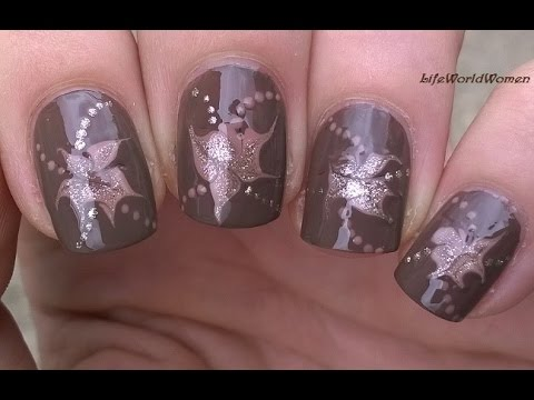 Drag Marble Nails For Fall Easy Needle Toothpick Nail Art Youtube