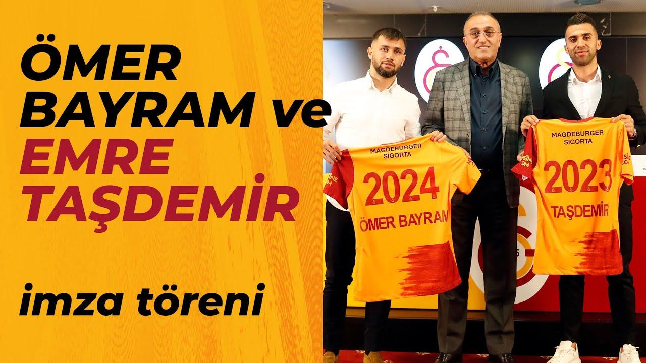 Ömer Bayram ve Emre Taşdemir'in sözleşme yenilemesi imza töreni