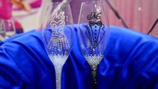 Свадебные бокалы в стразах Mr. & Mrs.(жених и невеста) https://vk.com/club53829666