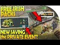 FREE IRISH PACK OPENING + *NEW* SAVING the PRIVATE EVENT in Last Day on Earth Survival Update 1.11.8