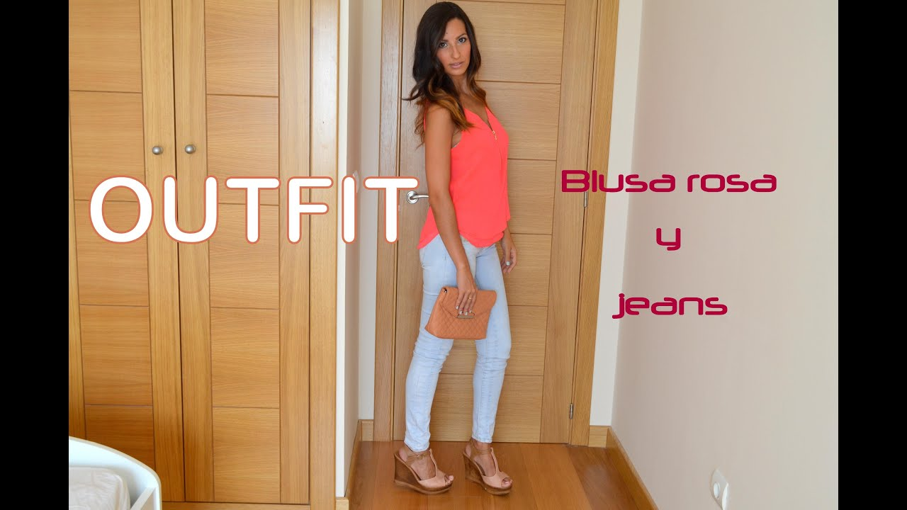 OUTFIT | Blusa rosa y Jeans ! Rosa Pastel - YouTube