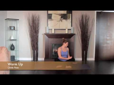 warm up  child's pose / stretch / breath / yoga exercise