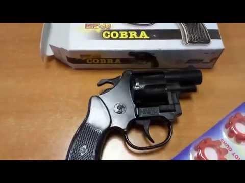 Детский игрушечный 8-ми зарядный револьвер на пистонах Edison 125/