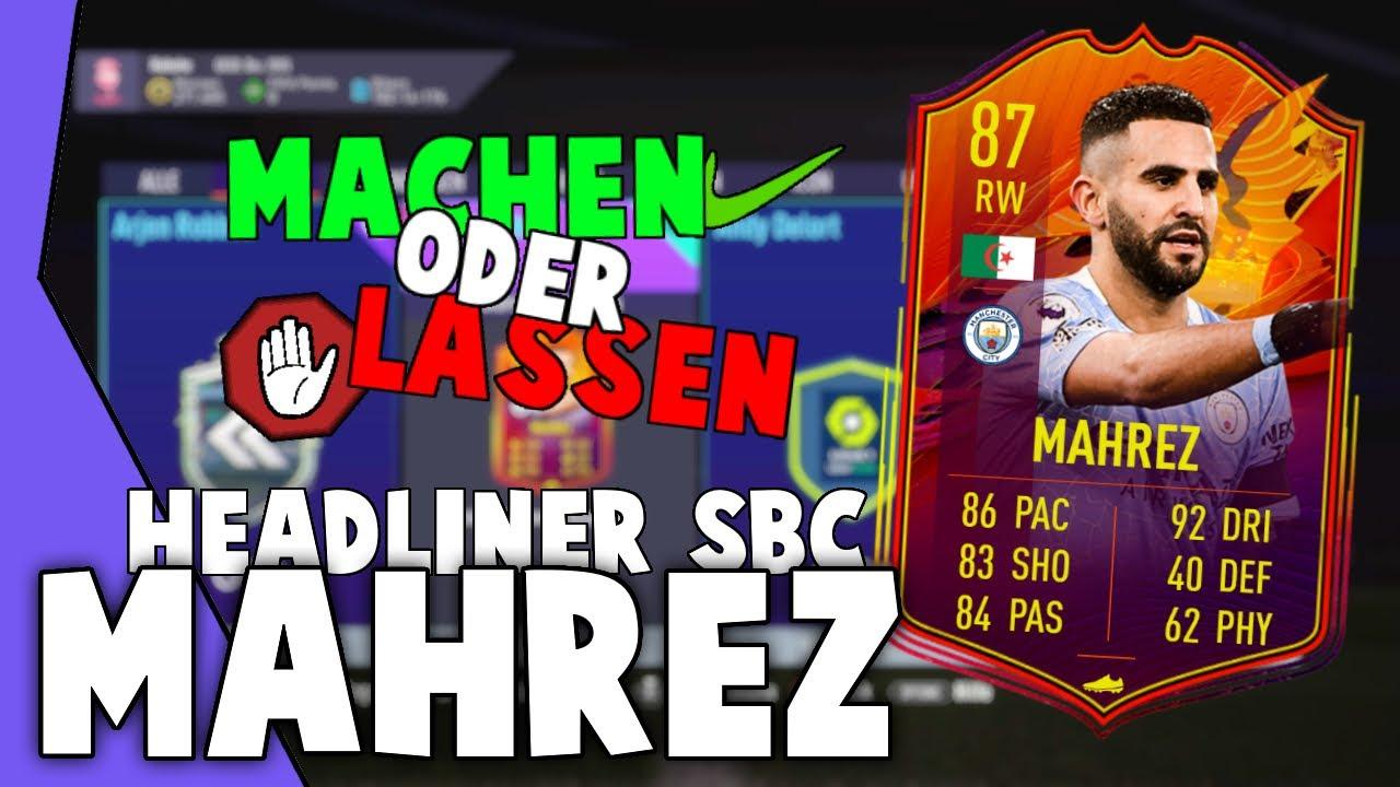MAHREZ HEADLINER | Lohnt sich diese SBC?! [Fifa 21: Machen oder Lassen?] -  YouTube