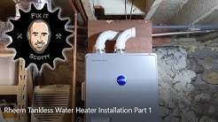 Rheem Tankless Water Heater Installation Part 1: sizing, buying and hanging