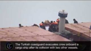 Cargo ship evacuated in Turkey after collision near Istanbul port