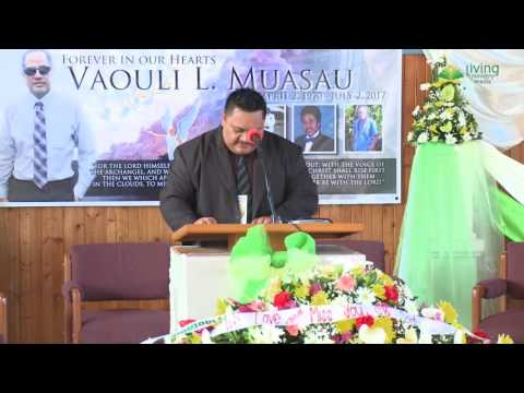 Elder Viliamu Muasau | Celebration of Life Service |  July 13, 2017
