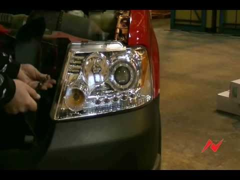 Wiring Diagram For 2003 Ford F150 Ford F150 Anzo Usa Headlight With Halo 04 08 Youtube
