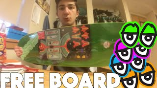 This is an unboxing of a Krooked Skateboard Deck that I got for free from Deluxe Distribution. I hope you guys remember this info