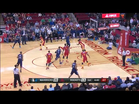 James Harden Falls Asleep on Defense. Repeatedly. [DAL @ HOU, 11/14/15]